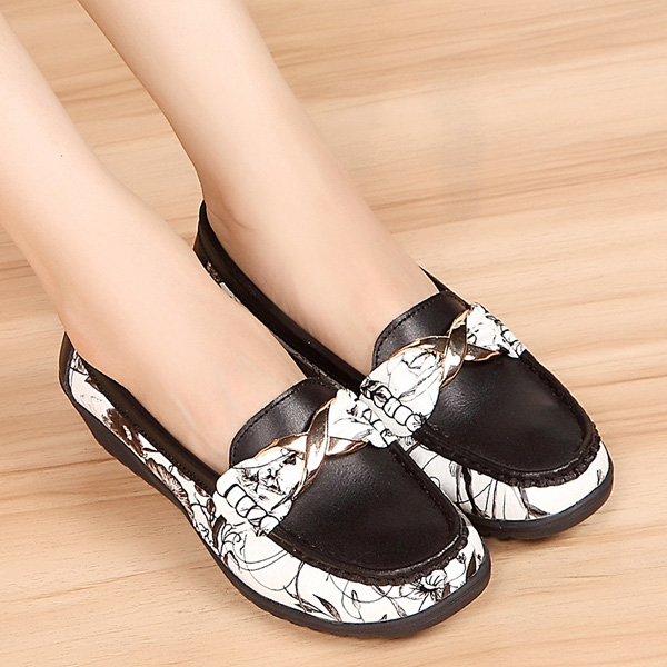 Women Fashion Flat Shoes Round Toe Soft Sole Flats Slip On Ballet Bowknot Loafers