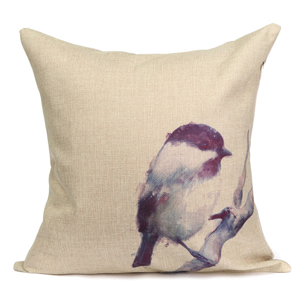 Cotton Linen Animal Square Throw Pillow Cases Waist Home Office Cushion Cover