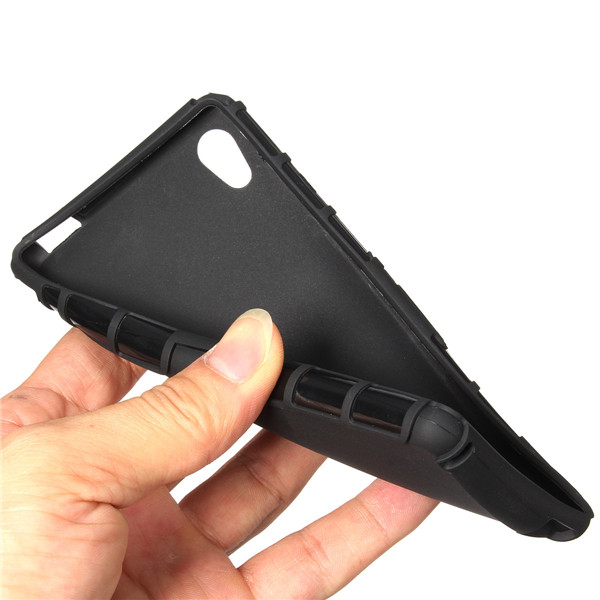 Armor Hybrid Soft TPU Stand Case Cover For Sony Xperia M4 Aqua