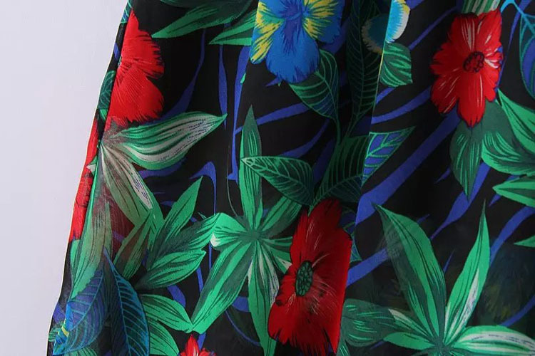Summer Style Women Floral Chiffon Skirts Beach Bohemian All-Match Casual Skirts