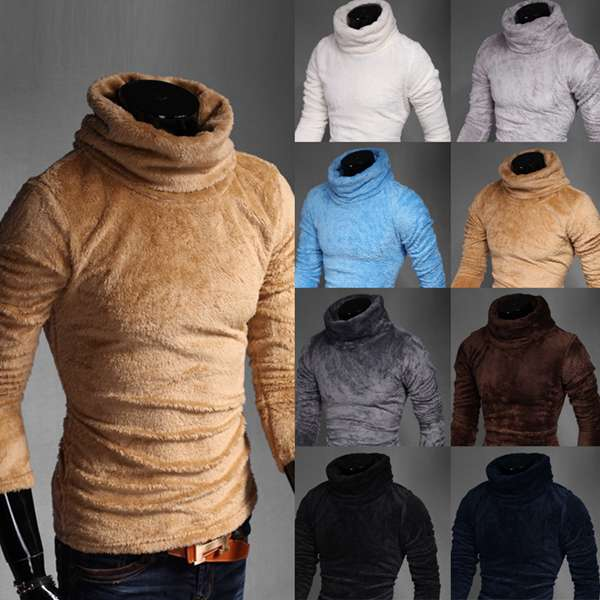 Winter Fashion Knitwear Pullovers Casual Warm Turtle Neck Stretch Sweater Six colors