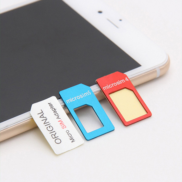 LENTION SIM Card Adapter Standard Nano Micro Sim Card For iPhone Smartphone