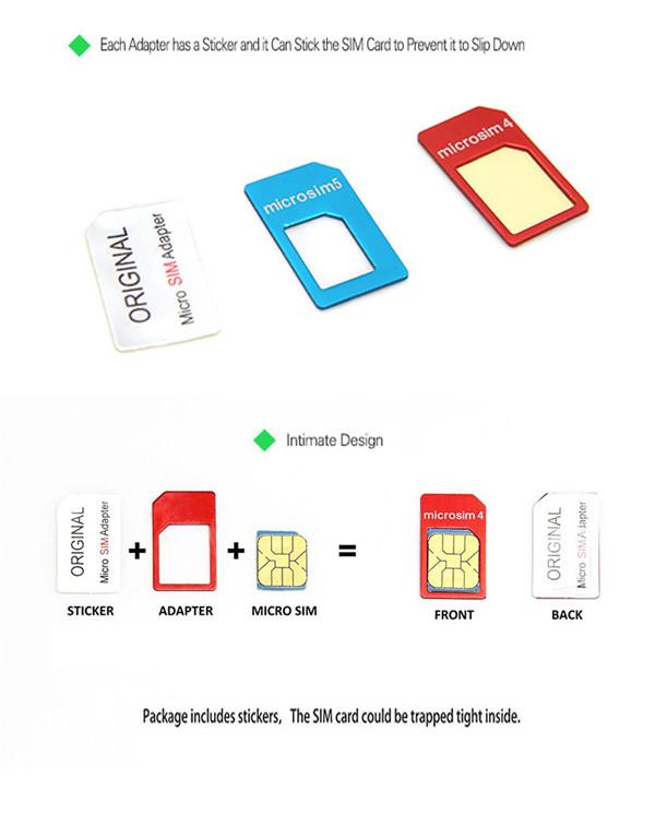 LENTION SIM Card Adapter Standard Nano Micro Sim Card For iPhone Smartphone