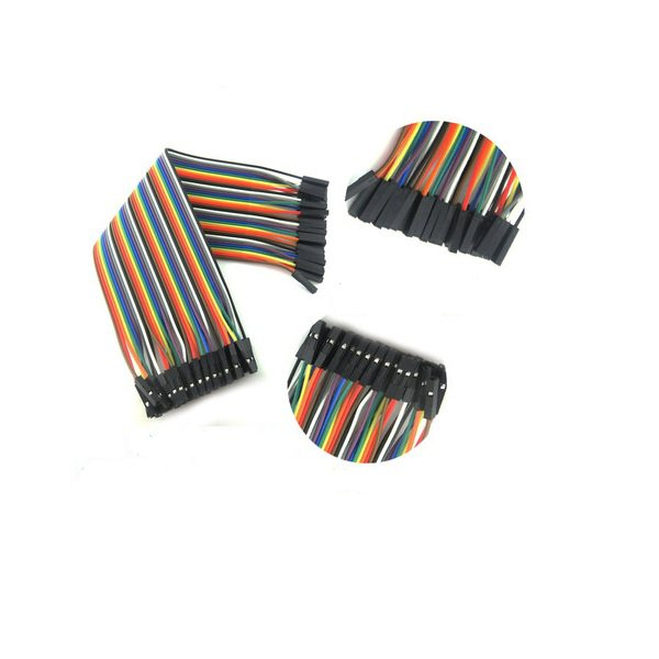 40pcs 30cm Female to Female Color Breadboard Cable Jump Wire Jumper