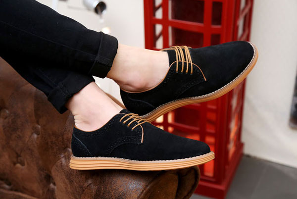 Big Size New Autumn Men Lace Up Casual Flat Suede Sport Shoes