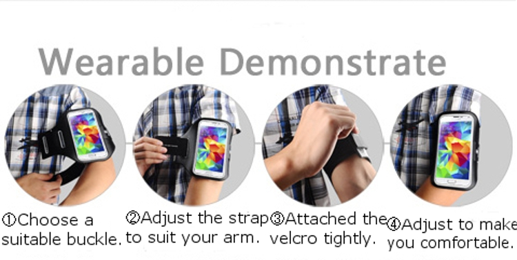 Baseus Universal Sports Running Armband Phone Case For Phone Under 5.1 inch