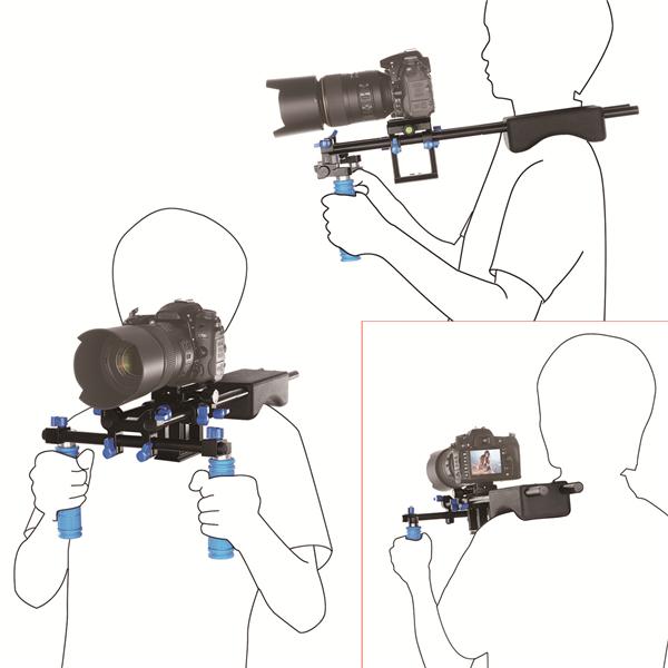 15mm RL-04 DSLR Rig Video Stabilizer Shoulder Holder For Canon EOS 5D 7D Mark II III DSLR Camera Cam