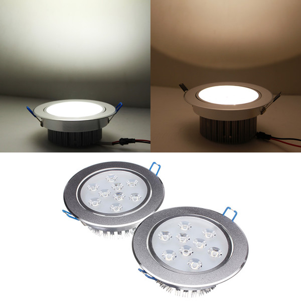 9W Bright LED Recessed Ceiling Down Light 85-265V + Driver
