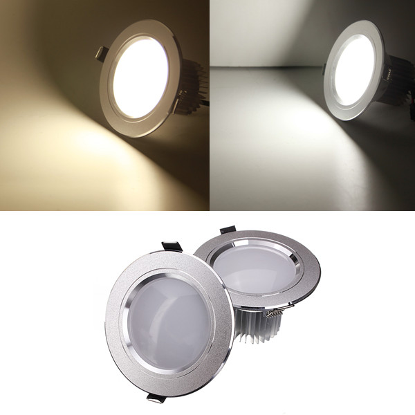 7W LED Down Light Ceiling Recessed Lamp Dimmable 110V + Driver