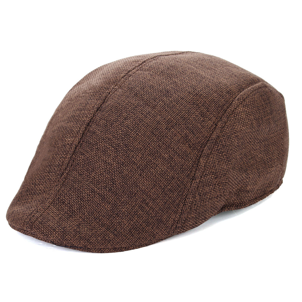 Mens Herringbone Flat Hat Peaked Racing Country Golf Newsboy Beret Cap