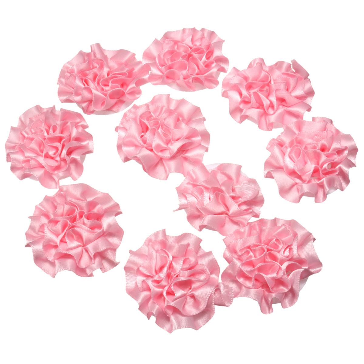 1PCS Ribbon Flowers Bows Carnation Appliques Craft Sewing Candy Box Wedding Decoration