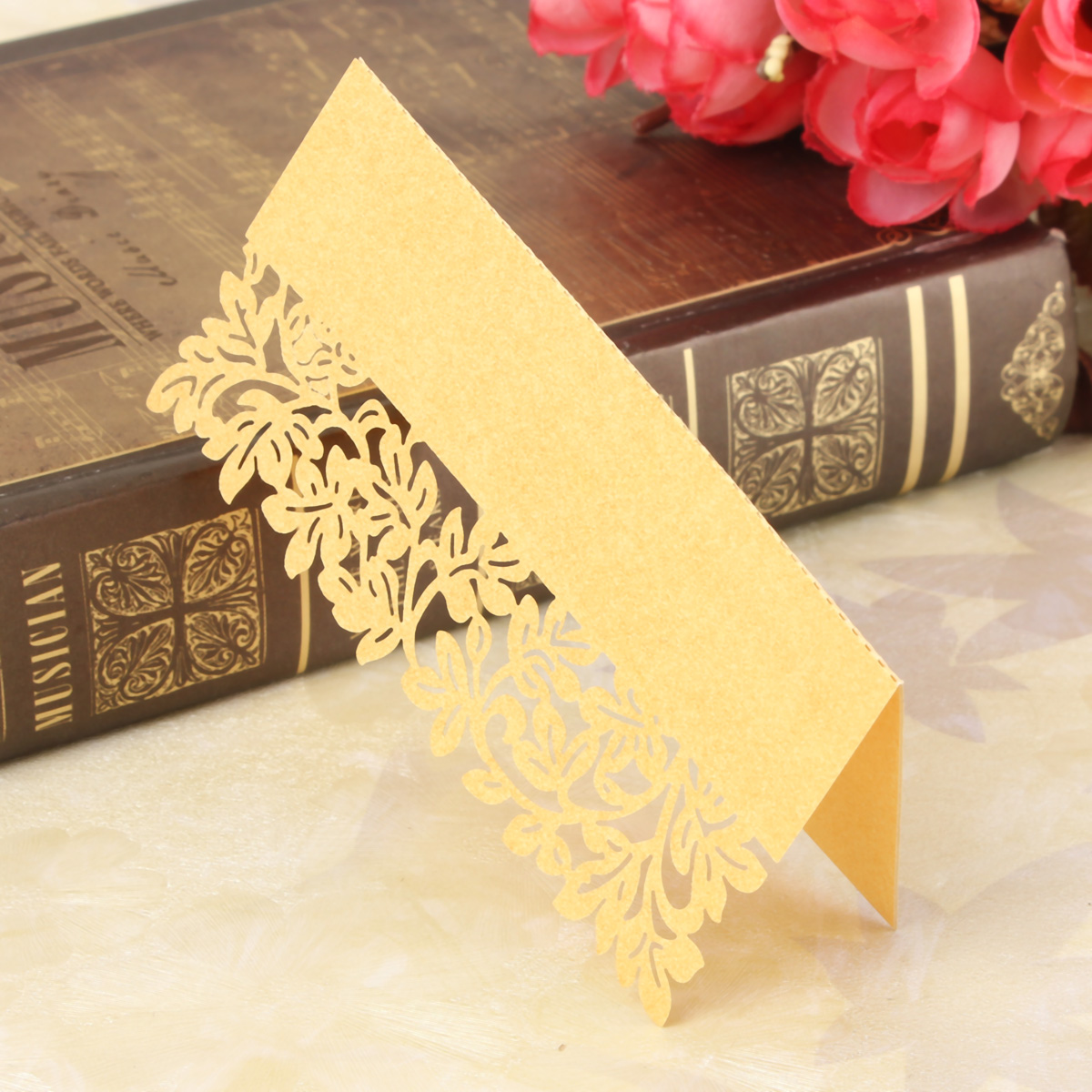 12Pcs Leaf Wedding Place Name Cards Personalised Tableware Seating Decoration
