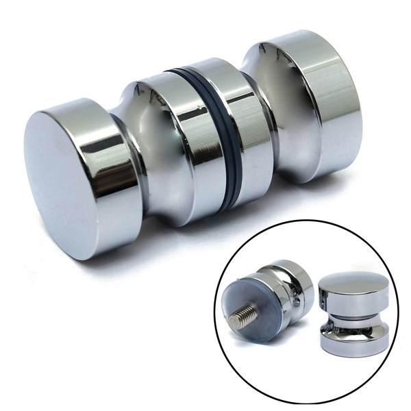 Aluminum Metal Dia. 30mm Single Groove Glass Door Knob Shower Room Cabinet Handle