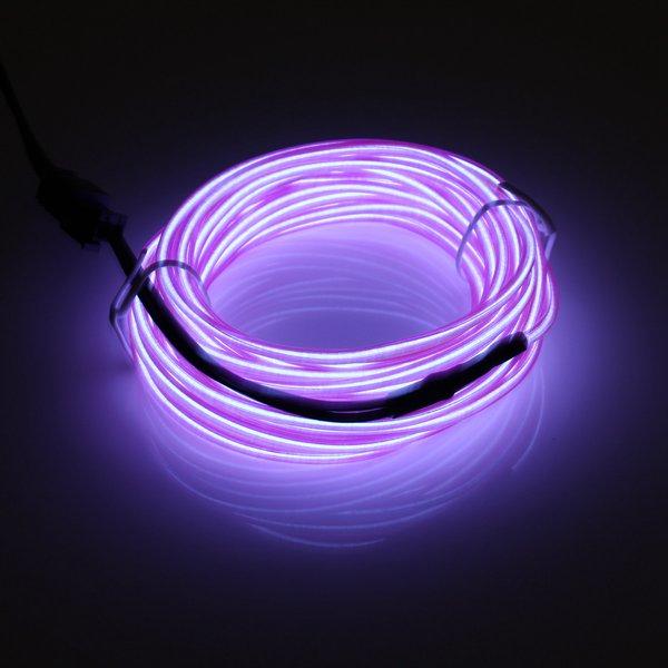 4M Single Color 5V USB Flexible Neon EL Wire Light Dance Party Decor Light