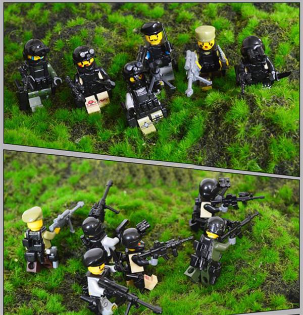 Xiaomingxing Mini Sniper Figures Gun Of Genesis Bricks Chief/Captive/Center Blocks