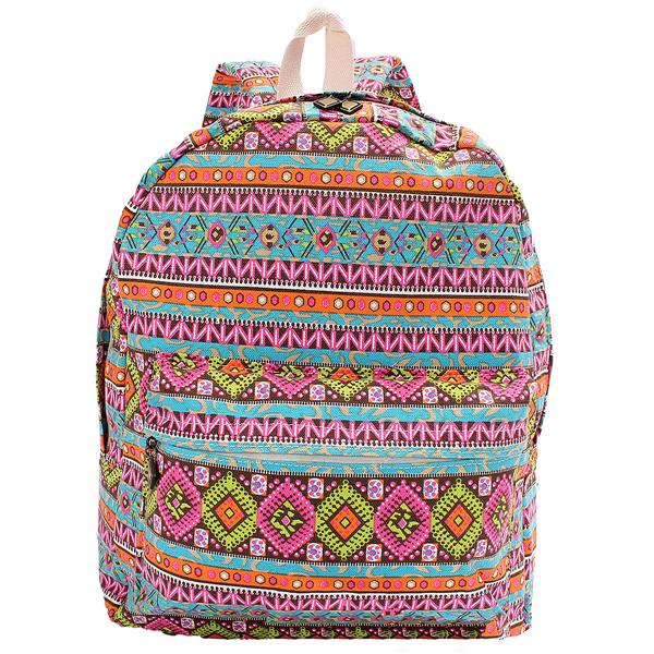 Cartoon Owl Fox Girl/Boy Student Shoulder Bag Women Travel Satchel Canvas School Backpack