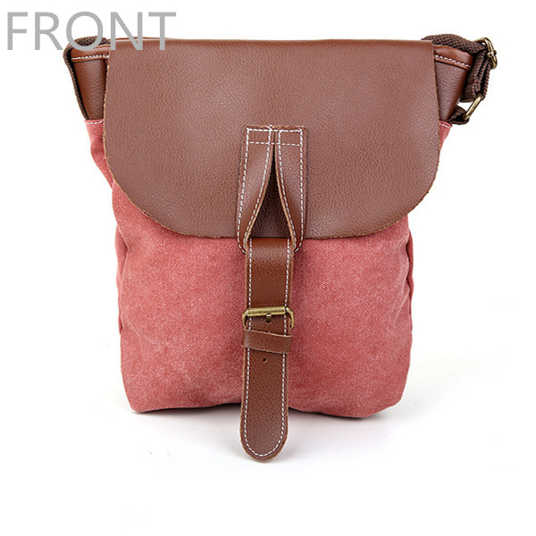 Women Canvas Leather Single Shoulder Bag Messenger Bag