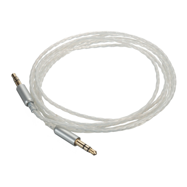 Car AUX Stereo Male to Male Audio Upgrade PTFE Teflon Cable 1.5M 3.5mm for Phone iPod PC