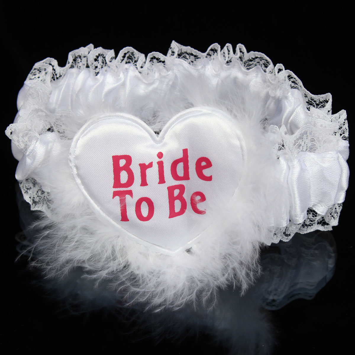 White Bride to Be Garter Sash Veil Badge Rosette Bachelorette Party Hen Night Wedding Accessories