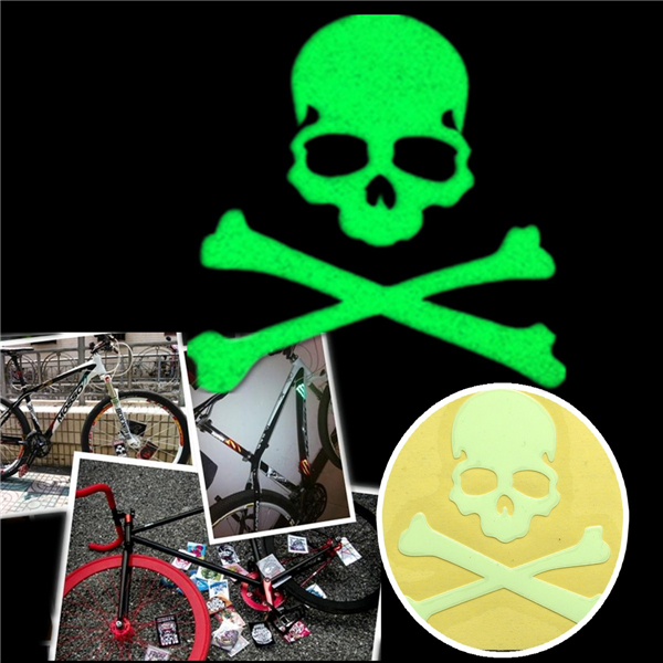 Noctilucent Skull Sticker Glow In The Dark Motorcycle Car Bike