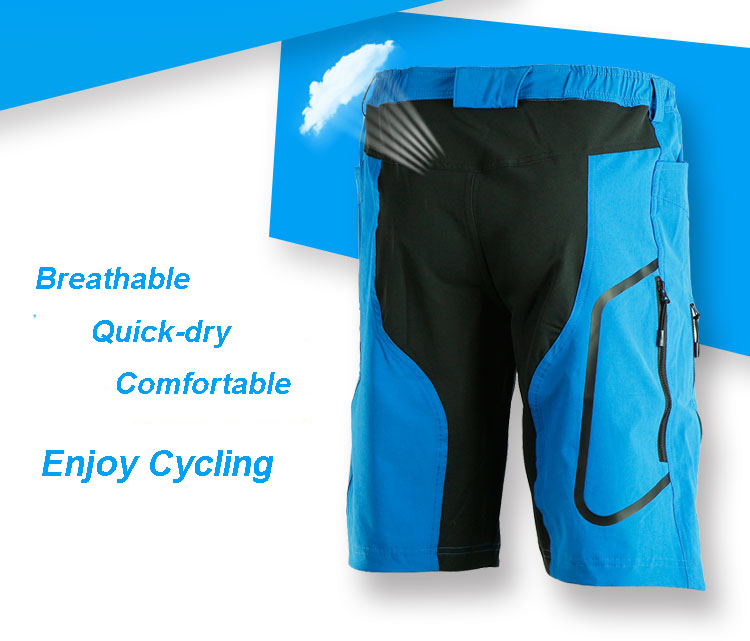 7f4f85064 ARSUXEO Mens Sports Riding Short Pants Cycling Bike Bicycle Shorts Trousers
