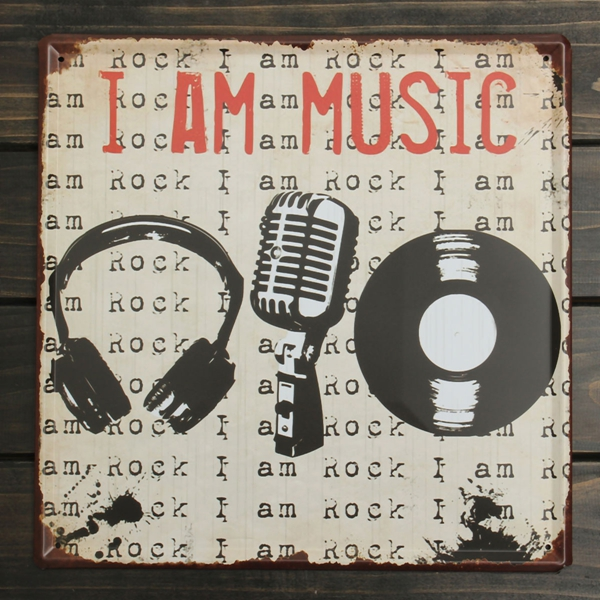 Music Tin Sign Vintage Metal Plaque Poster Bar Pub Home Wall Decor