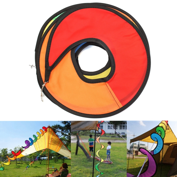 Flower Windmill Wind Twister Spinner Camping Festival Yard Garden Decoration