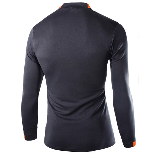 Men Polyester Bodybuilding Sportswear tee Tights Long Sleeve Sports Quick Drying GYM T-shirts