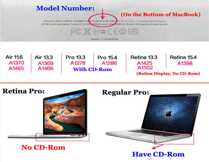 Cover Logo Frosted Surface Matte Hard Cover Laptop Protective Case For Apple Macbook Pro 15.4 Inch