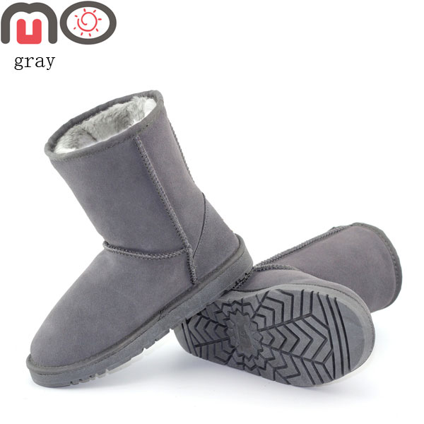 MO Winter Women Shoes New Fashion Suede Keep Warm Flat Mid-Calf Boots Snow Boots