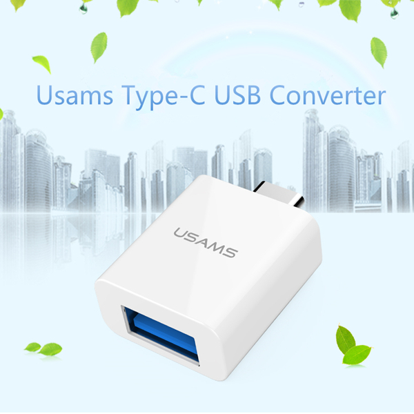 Usams USB 2.0 / USB 3.0 to USB 3.1Type-C Adapter Converter For Nokia N1 Macbook Chromebook Pixel 2