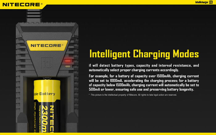 Nitecore i1 USB E-cigarettes Intelligent Rapid IMR/Li-ion Battery Charger