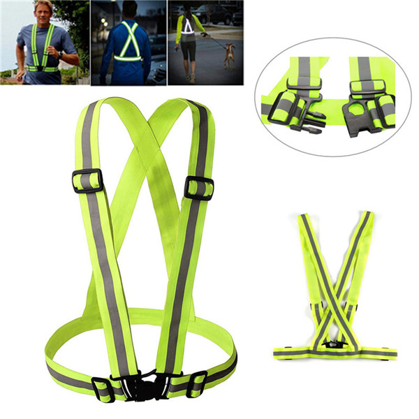 Unisex Night Cycling Riding Running Outdoor Sports Reflective Safety Vest Yellow