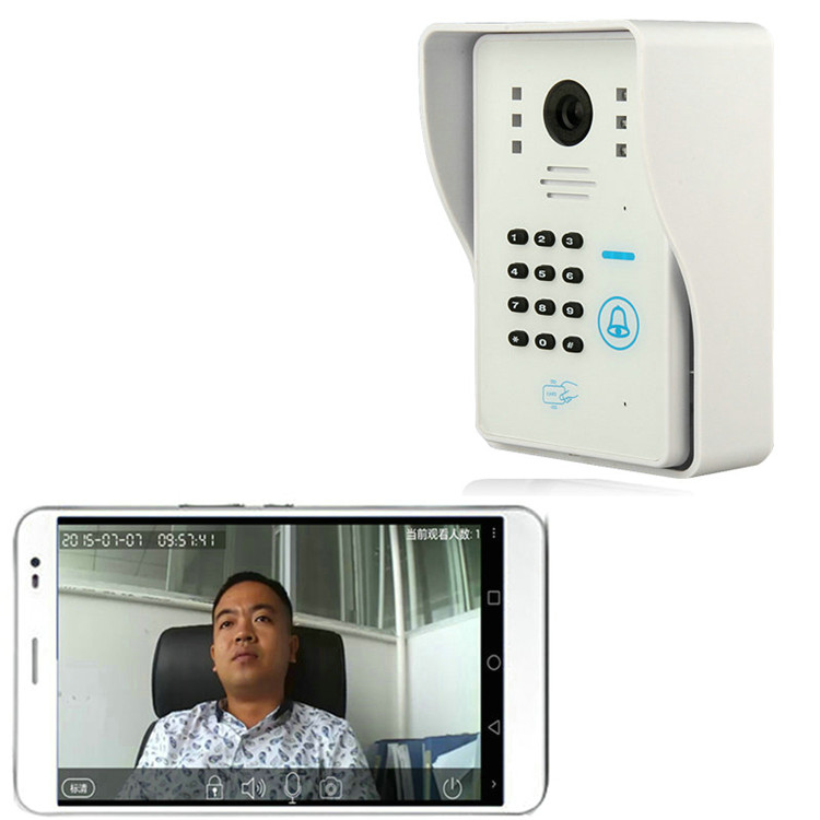 ENNIO WIFI Video Door Phone System with alarm system Card Unlock Remote Wireless Control