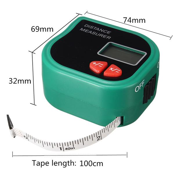 CP-3001 Infrared Ultrasonic Digital Laser Distance Meter Handheld Rangefinder Measure Diastimeter with a Tape