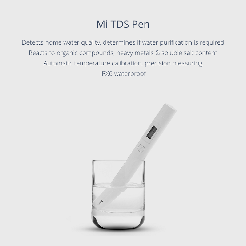 Original Xiaomi TDS Tester Water Quality Meter Tester Pen Water Measurement Tool