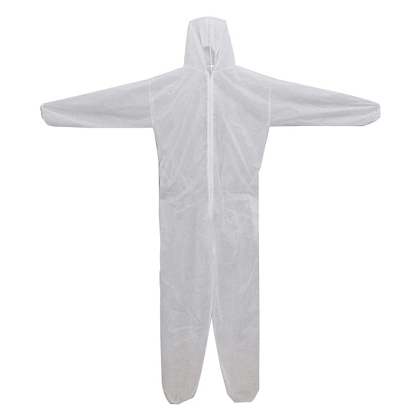 Disposable White Coveralls Dust Spray Suit Non-woven Clothing