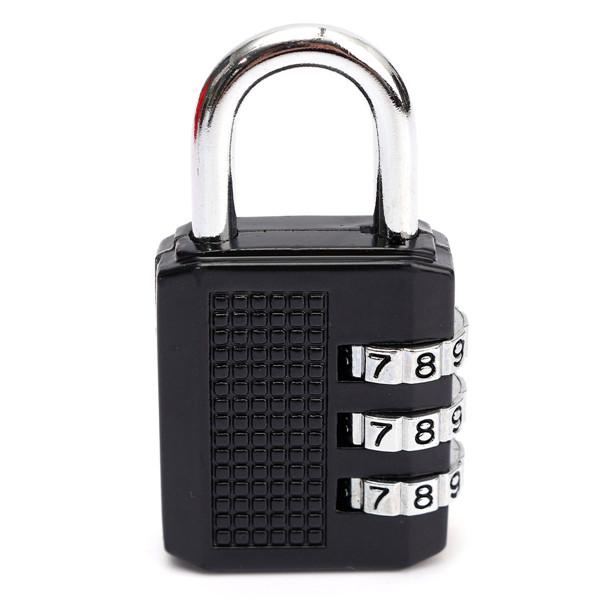 3 Dial Digit Combination Metal Gym Lock Luggage Bag Password Padlock