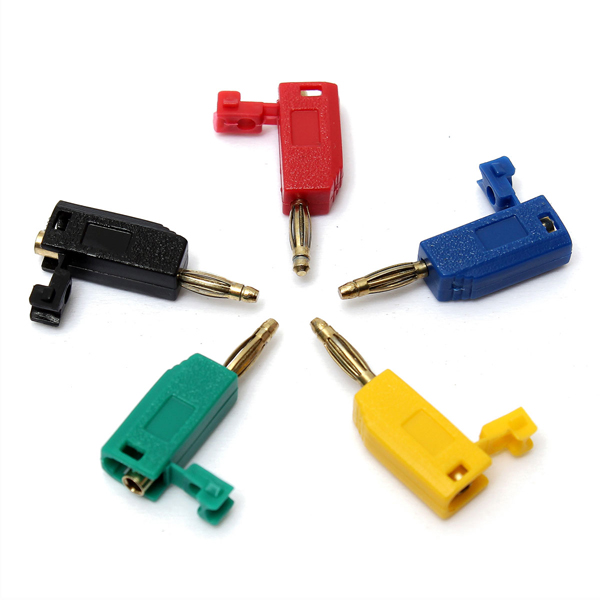 5 Colors 2mm Banana Plug Connector Jack For Speaker Amplifier Test Probes Terminals Cooper
