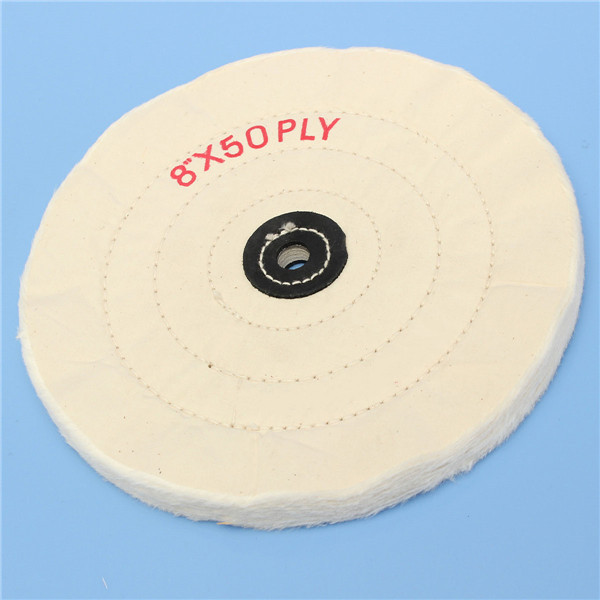 8 Inch Round Felt Wool 1/2inch Arbor Buffer Polisher Buffing Polishing Wheel