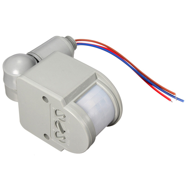 LED 110V-240V Infrared PIR Motion Sensor Detector Wall Light Switch 140Degree 12M