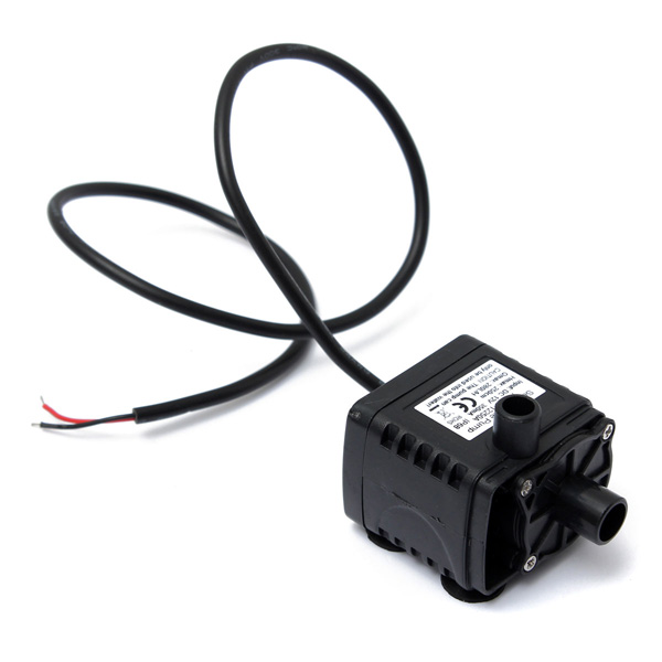 12V DC CAR Brushless Water Oil Waterproof Submersible CPU Cooling PumpBlack