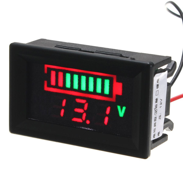 12V Acid Lead Batteries LED Indicator Battery Capacity Digital Tester Voltmeter