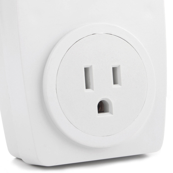 Wireless Remote Control AC Electrical Power Outlet Switch Socket USA Plug White