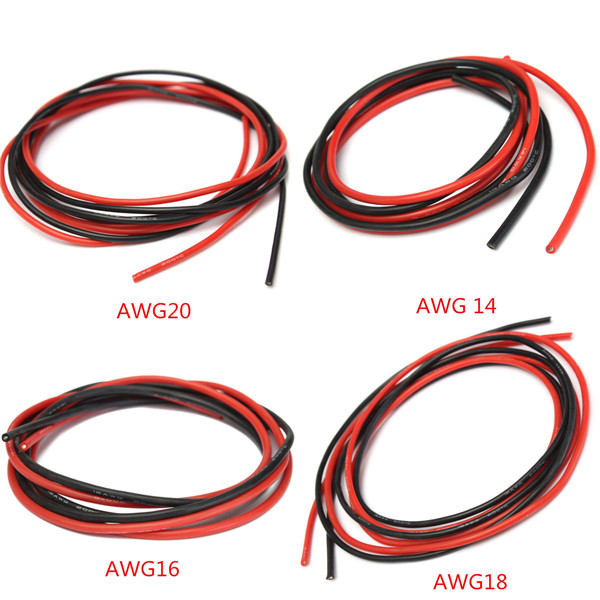 2M AWG Weiches Silikon Flexibles Draht Kabel - US$2.99