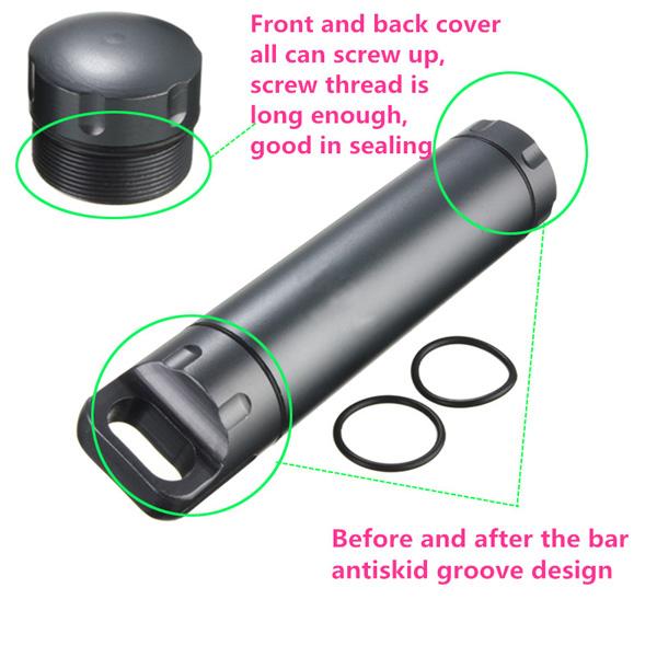 Waterproof Case Container Capsule Seal Bottle Holder Survival Emergency Tool