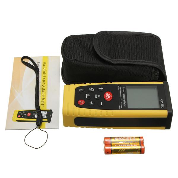 CP100 100m/328ft Digital Handle Laser Distance Meter Diastimeter Measure Rangefinder