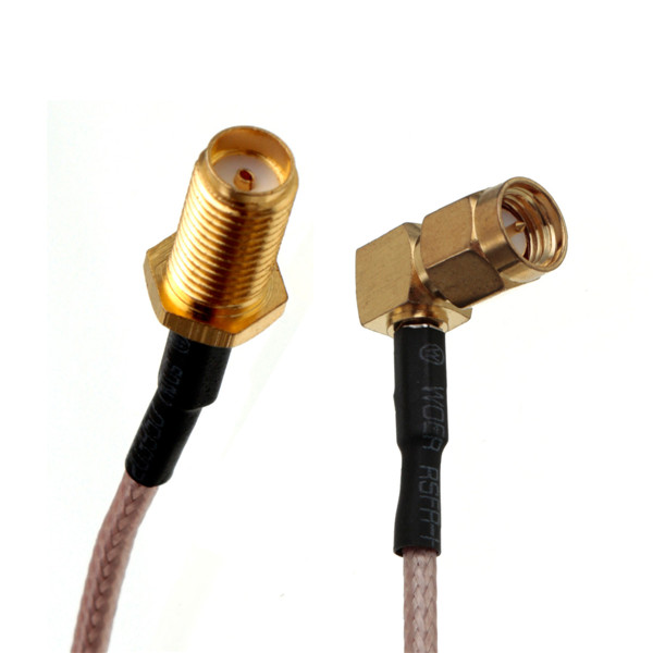 15cm SMA Female Bulkhead To SMA Male RA Plug Right Angle Pigtail Cable RG316