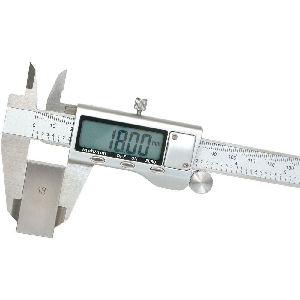 DANIU 150mm 6 inch LCD Digital Stainless Caliper Guage Metric Conversion & Zero Buttons