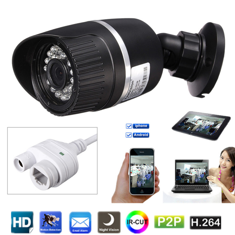 Waterproof 720P Outdoor IP Network Security IR-Cut Onvif CCTV P2P Camera